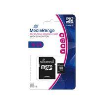 MediaRange Speicherkarte Micro SDHC/MR958 16GB Geschwindigkeit Klasse 10 schwarz
