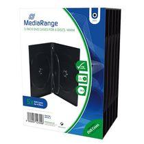 MediaRange DVD-Hüllen/BOX35-4 H191xB136xT14mm Inh. 5 Stk