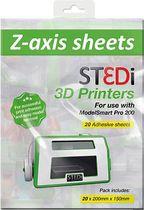 Z-Axis Sheets für 3D Drucker /ST-9001-00 200 x 150 mm 20 Blatt
