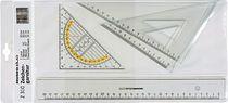RUMOLD Zeichengarnitur, Z310, rauchgrau getönt, Kunststoff, Inh. 4 Teile