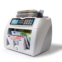Safescan Automatischer Banknotenzähler - mit 6facher Falschgelderkennung, EUR Wertzählung, SAFESCAN 2665-S