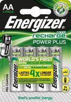 Energizer® Akkus PowerPlus/E300626700 Zylinder Mignon AA HR6 Inh. 4 Stk