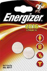 Energizer® Knopfzellen/ 638711, Ø 20 x H 1,6 mm CR2016 Inh. 2