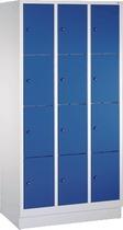 C+P Fächerschrank 3x4 Fächer/8020-304 lichtgrau blau