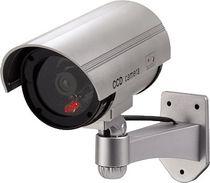 hama® Überwachungskamera-Attrappe/00111993 L 20 cm silber