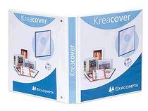 EXACOMPTA Präsentationsringbuch KreaCover A4+/51841E, weiß, 320x265mm