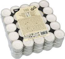 PAPSTAR Teelichter 13302/13302, weiß, Paraffin, Ø 3,7 cm, Inh. 100
