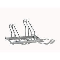EUROKRAFT Fahrradständer, Bügel aus Stahlrohr, Radeinstellung einseitig - 2 Stellplätze