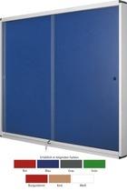 Bi-silque Schaukasten EXHIBIT/VT640202160 15xA4 Schiebefenster grün