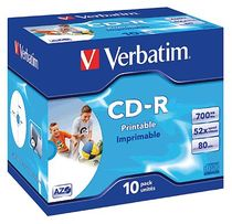 Verbatim CD-R Rohling 80min/43325 52x Inh. 10 Stk