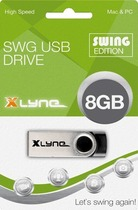 Xlyne USB-Stick Swing SWG 8 GB/177560-2 2.0 silber/schwarz