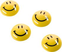magnetoplan Magnete Smiley/16671 gelb schwarz 20mm Inhalt 8 Stück