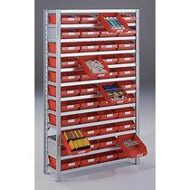 Steckregal für Regalkästen - HxB 2100 x 1000 mm - Grundregal, Tiefe 400 mm, ohne Kästen, Böden 14 Stk