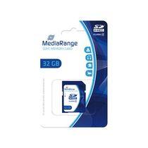 MediaRange Speicherkarte SDHC/MR964 32GB Geschwindigkeit Klasse 10 blau