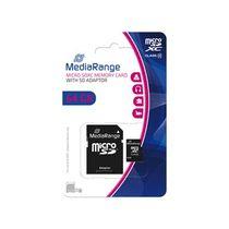 MediaRange Speicherkarte Micro SDXC/MR955 64GB Geschwindigkeit Klasse 10 schwarz