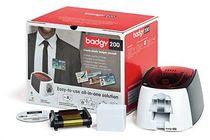 badgy Ausweisdrucker 200 /B22U0000RS, inkl. Zubehör, schwarz/weiß/rot