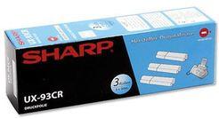 SHARP Thermotransferband UX93CR schwarz