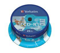 Verbatim CD-R auf Spindel/43439 AZO Vinyl bedruckbar Inh. 25 Stk