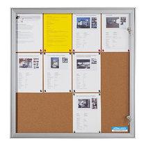office akktiv Schaukasten mit Flügeltür - Außen-BxHxT 742 x 1005 x 33 mm - Korkrückwand