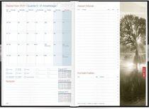 Häfft® Buchkalender Business/2858-7 A5 12 Monate 14,8 x 21 cm schwarz