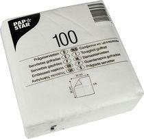 PAPSTAR Prägeservietten/10519, weiß, Tissue, 1-lagig, 17 g/qm, 30x30cm, Inh.100