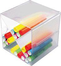 deflecto® Organiser-System CUBE/DE350201, glasklar, Trennung X