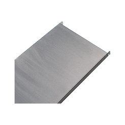 Edelstahl-Steckregal, 4 glatte Fachböden - Fachbodenbreite x Tiefe 740 x 440 mm - Grundregal