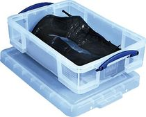 Really Useful Box® Aufbewahrungsbox/ 24,5c, B400 x H140 x T600 mm, transparent
