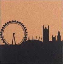 Bi-Office Bedruckte Pinnwand/SF751284397 London Skyline rahmenlos 40 x 40 cm