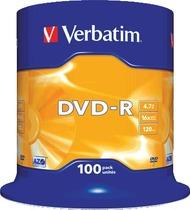 Verbatim DVD-R AZO Rohling/43549 16x 4,7GB bedruckbar Inh. 100 Stk