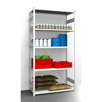 EUROKRAFT Hygiene-Steckregal - Regalhöhe 2350 mm, 5 Fachböden - BxT 1275 x 685 mm, Grundregal