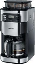 SEVERIN Kaffeeautomat mit Mahlwerk/KA 4810 edelstahl-gebürstet/schwarz