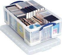 Really Useful Box® Aufbewahrungsbox 50 Liter/ 50C, B44x H23x T71 cm, transp