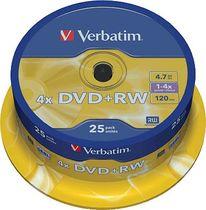 Verbatim DVD+RW 4x/43489 Inh. 25 Stk