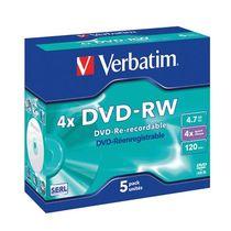 Verbatim DVD-RW Jewel Case/43285 4.7 GB Inh. 5 Stk
