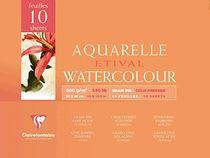 Clairefontaine Aquarellblöcke ETIVAL, fein /96572C 30x40cm 300g