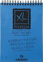Canson XL Block - Mix Media, 807215, 300 g/qm, DIN A4, Inh. 30 Blatt