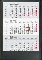 rido/idé 3-Monatstischkalender/5138001 12,5 x 16 cm 2018