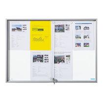 office akktiv Schaukasten mit Schiebetüren - Außen-BxHxT 906 x 640 x 50 mm - Metallrückwand