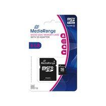 MediaRange Speicherkarte Micro SDHC/MR957 8GB Geschwindigkeit Klasse 10 schwarz