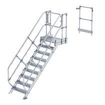 Günzburger Steigtechnik Treppenmodul - Alustufen, Stufenbreite 800 mm - 8 Stufen