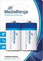 MediaRange Batterien Premium Alkaline LR20/MRBAT109 Mono D Zylinder Inh. 2 Stk