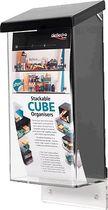 deflecto® Prospektbox für den Außenbereich/790701 125x287x83 mm glasklar/schwarz