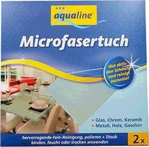 aqualine® Microfasertuch, Vlies 2er/9006-02075 37x38cm 55%Polyester,45% Polyamid