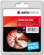 AgfaPhoto Tintenpatrone für Canon Pixma iP4200, 2xblack