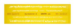Aristo ISONORM-Schriftschablone Duo Fineliner