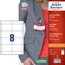 Avery Zweckform Namensschilder mit Clip