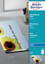 Avery Zweckform Transparente, selbstklebende Folie