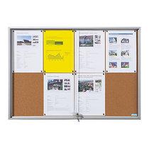 office akktiv Schaukasten mit Schiebetüren - Außen-BxHxT 2006 x 947 x 50 mm - Korkrückwand