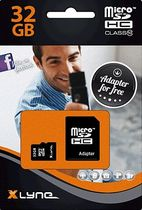 Xlyne Flash memory card MICRO SDHC/7432001 32 GB Class 10 with adapter